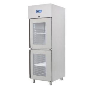 Armoire Refrigerée positive 2 portes superposables