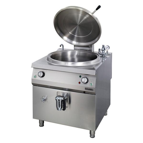 Marmite cylindrique électrique 100 lt chaleur indirecte