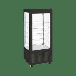 Vitrine négative ventilée – étagères en verre, large modèle