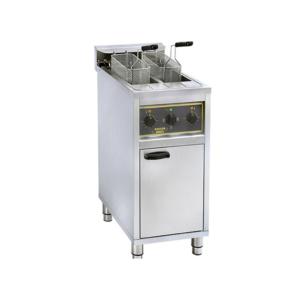 Friteuse électrique grande capacité – 2 cuves 2 x 10 L