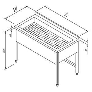 Table D'égouttage Avec Cache Bac