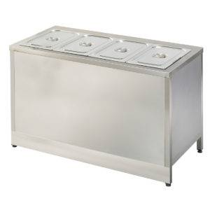 Meuble self service chaud 4 bacs GN1/1