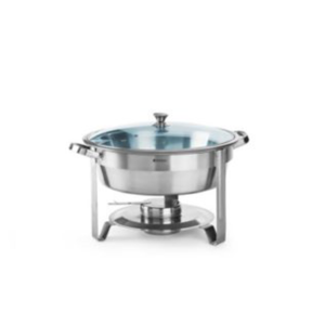 Chafing dish rond + bac GN1/1 + 2 bacs GN1/2 + 3 bacs GN1/3