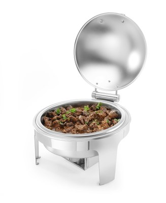 Chafing dish rond finition satiné