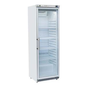 Armoire Réfrigérée Vitrée Laqué Blanc 400 Litres