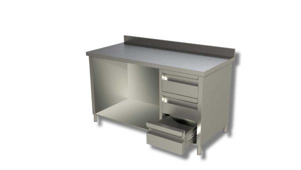 Table Murale de travail avec 3 tiroirs et dosseret 1200*600*850