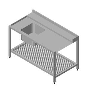 Table D'entrée pour lave-vaisselle Gauche 1400*750*870 mm