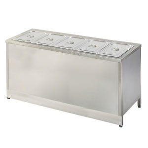 Meuble Self-Service Chaud 05 Bacs Gn 1/1