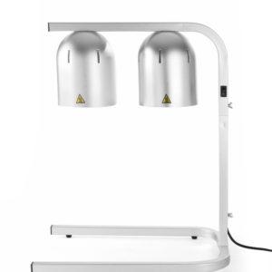 Portique chauffe-plat avec 2 lampes infrarouges